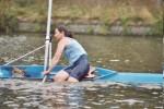 Omslaan in een skiff