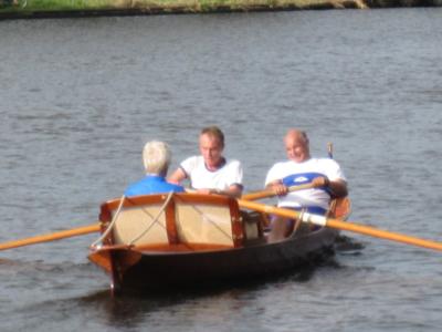 Stan Jansen (slag) en Ewoud de Boer, met Marilyn ... (stuur) in de race van 14 oktober 2018